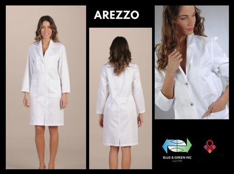 Arezzo Coat (Uniform Ladies) Uniform - Blue & Green Inc.