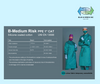 B-Medium Risk, Silicone Coated Cotton Gown (13688) Uniform - Blue & Green Inc.
