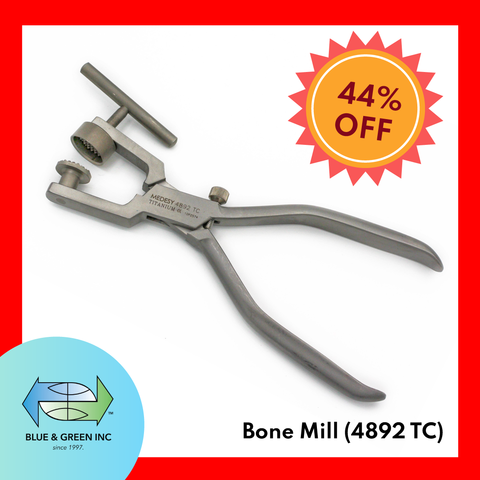 Bone Mill (4892 TC) Bone Mill Forceps - Blue & Green Inc.
