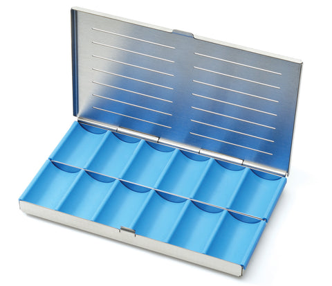 Divided Cassette 12 Compartments (182076) Compartment Box - Blue & Green Inc.