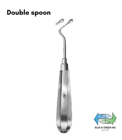 Surgical Spoon Curette with special handle (Z HSK 124-02) Curette - Blue & Green Inc.