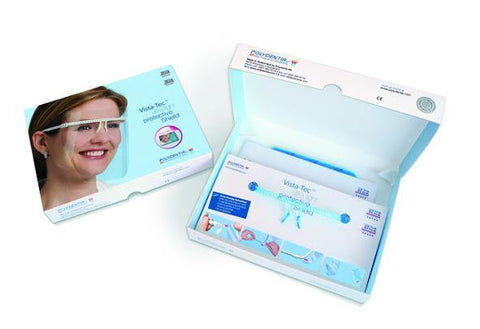 Face shield Vista-Tec Ultra Light - 1 frame, 10 shields (5624/W) Eye shield - Blue & Green Inc.