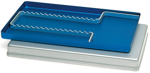 Aluminium Perforated Tray w/ Cover and Instrument holder (184460,184461,184462) Tray - Blue & Green Inc.