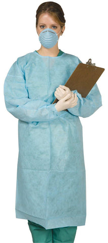Disposable Tie-Back Protective Gown Disposable Apparel - Blue & Green Inc.