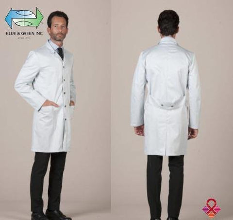 Lab Coat Almaty (Uniform Gentlemen) Lab Coat - Blue & Green Inc.
