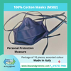 Cotton Face Mask Adult (MS02) Pack of 10 Mask - Blue & Green Inc.