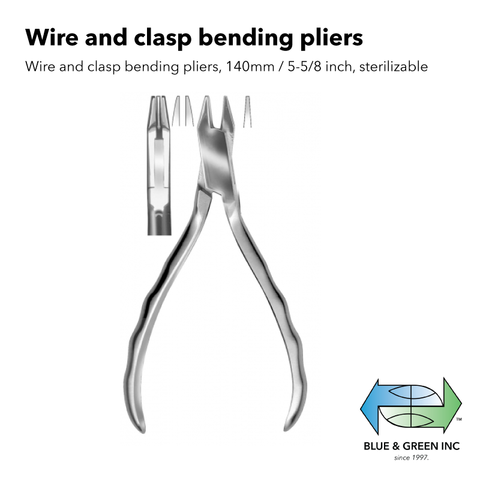 Wire and clasp bending pliers (Z 4321-13) Plier - Blue & Green Inc.