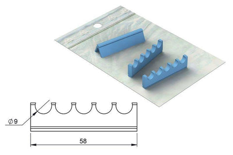 Silicone refill for: Cassette 18 x 6 (182063) Cassette - Blue & Green Inc.