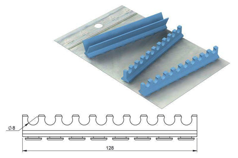 Silicone refill for: Cassette 18 x 14, 10 instruments (182056) Cassette - Blue & Green Inc.