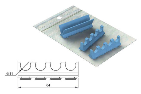 Silicone refill for: Cassette 18 x 7 (182069) Cassette - Blue & Green Inc.