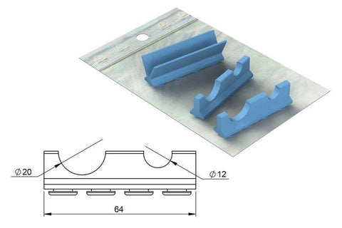 Silicone refill for: Cassette 18 x 7 for Handpieces (182079) Cassette - Blue & Green Inc.