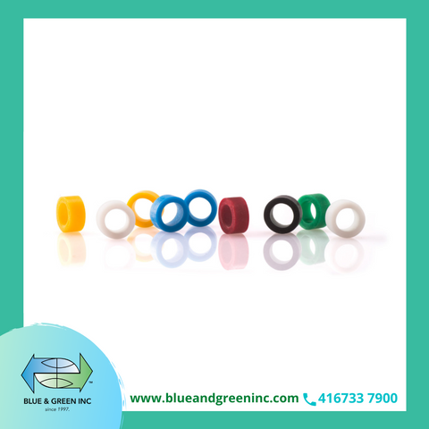 ID-Rings e Maxi ID-Rings, Assorted Colours 30 pcs (5360)  - Blue & Green Inc.