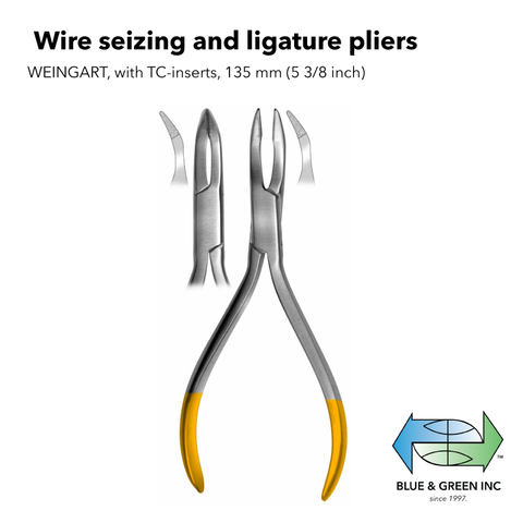 Wire seizing and ligature pliers (H2723-13) Plier - Blue & Green Inc.