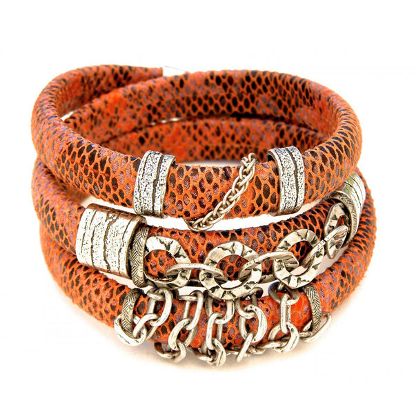 Leather and More b Coral Snake Print Leather