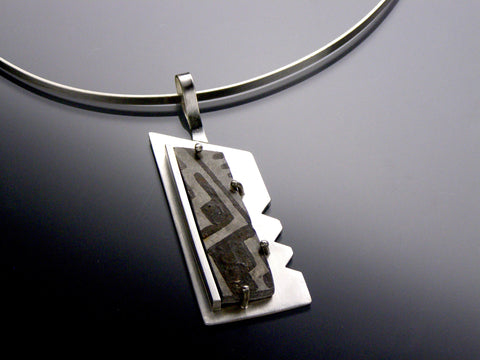 anasazi black & white pendant small