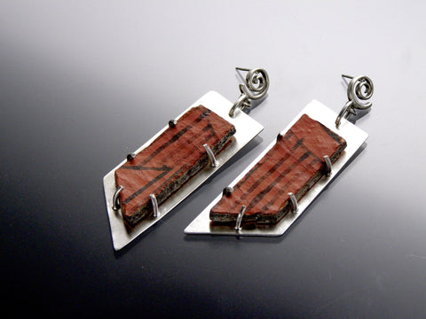 anasazi red earrings
