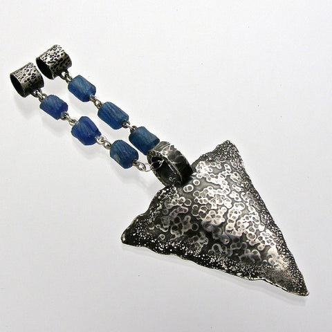 blue arrowhead pendant