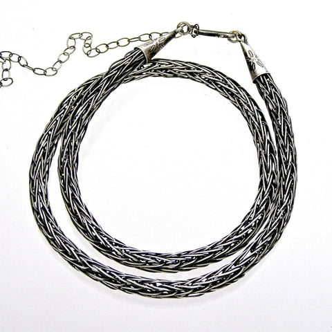 viking weave chain patina