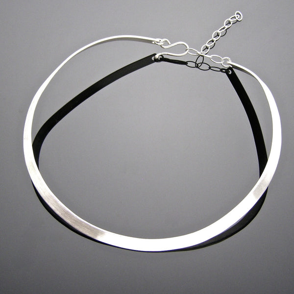 neck bangle matt brushed