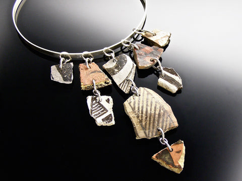 anasazi pottery shard neck bangle
