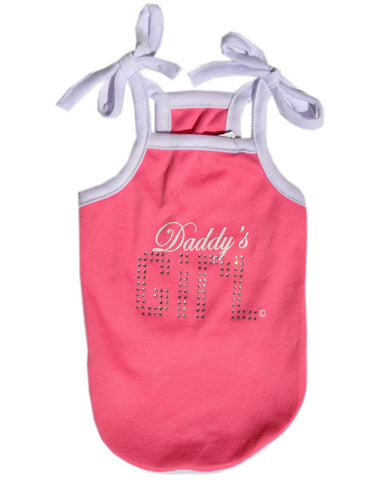 Pink spaghetti strap dog tshirt with Daddy's Girl