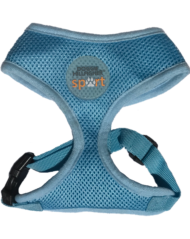 Blue dog harness