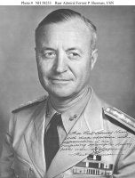 Picture of Rear Admiral (at the time) Forrest P. Sherman.