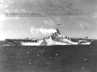 USS Ticonderoga (CV-14) launching aircraft prior to her first strike against the Japanese, 5 November 1944.