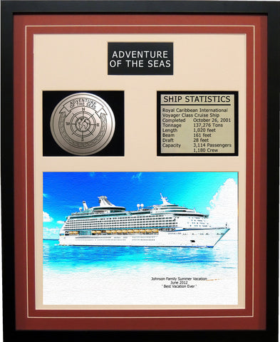 Adventure of the Seas - Framed Cruise Ship Art Print