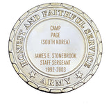 Army Plaque - Camp Page