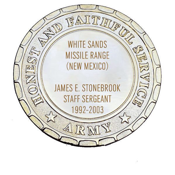 Army Plaque - White Sands Missile Range