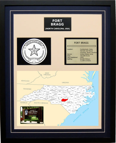 Fort Bragg - Framed Army Base Photo Plaque
