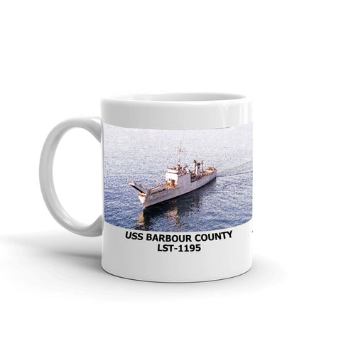 USS Barbour County LST-1195 Coffee Cup Mug Left Handle