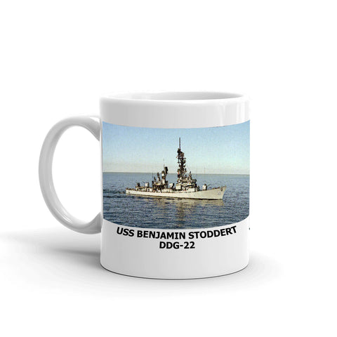 USS Benjamin Stoddert DDG-22 Coffee Cup Mug Left Handle