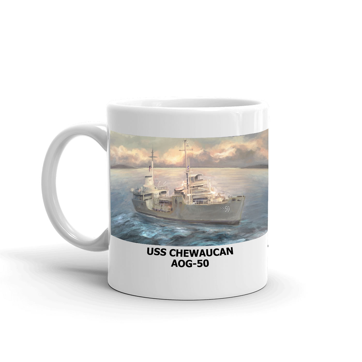 USS Chewaucan AOG-50 Coffee Cup Mug Left Handle