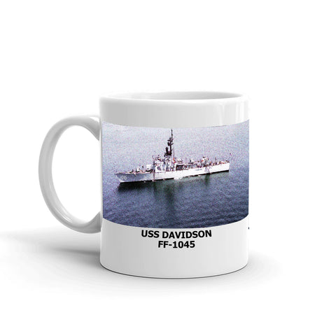 USS Davidson FF-1045 Coffee Cup Mug Left Handle