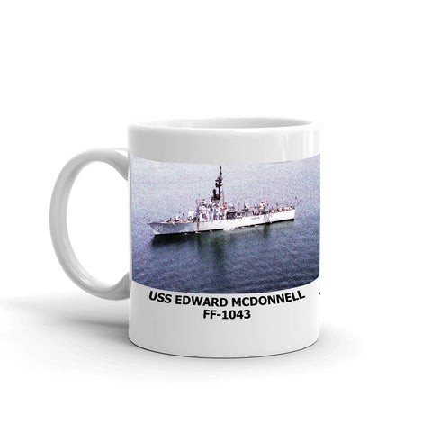 USS Edward Mcdonnell FF-1043 Coffee Cup Mug Left Handle