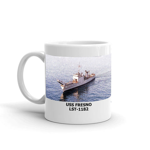 USS Fresno LST-1182 Coffee Cup Mug Left Handle