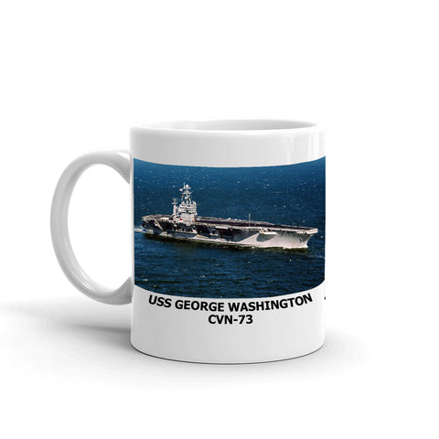 USS George Washington CVN-73 Coffee Cup Mug Left Handle