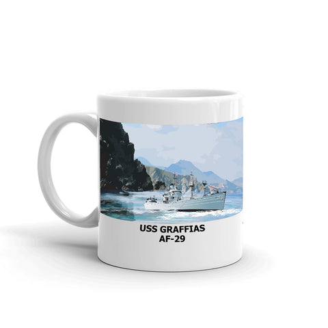 USS Graffias AF-29 Coffee Cup Mug Left Handle