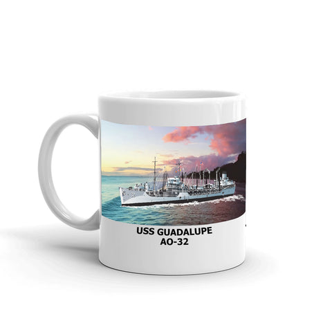 USS Guadalupe AO-32 Coffee Cup Mug Left Handle