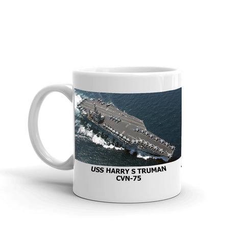 USS Harry S Truman CVN-75 Coffee Cup Mug Left Handle