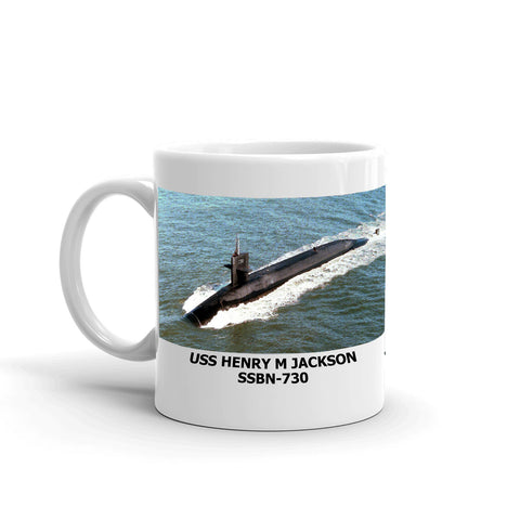USS Henry M Jackson SSBN-730 Coffee Cup Mug Left Handle