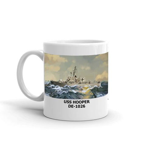 USS Hooper DE-1026 Coffee Cup Mug Left Handle