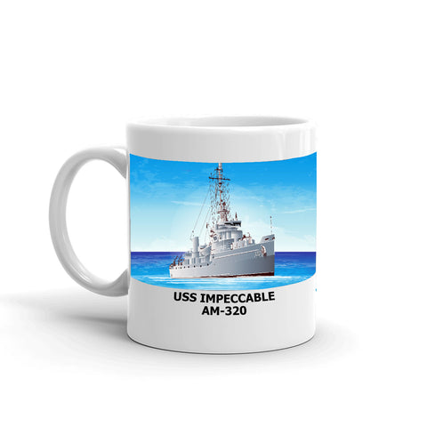 USS Impeccable AM-320 Coffee Cup Mug Left Handle