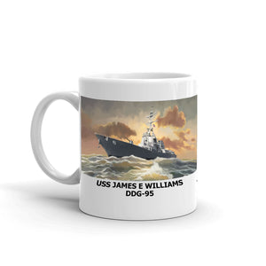 USS James E Williams DDG-95 Coffee Cup Mug Left Handle