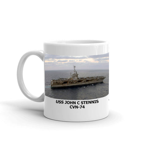 USS John C Stennis CVN-74 Coffee Cup Mug Left Handle