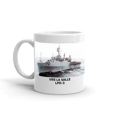 USS La Salle LPD-3 Coffee Cup Mug Left Handle
