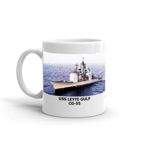 USS Leyte Gulf CG-55 Coffee Cup Mug Left Handle