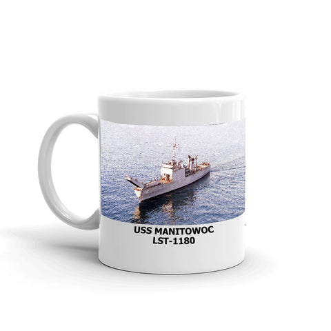 USS Manitowoc LST-1180 Coffee Cup Mug Left Handle